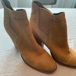Aldo Sassi snakeskin Chelsea ankle boots